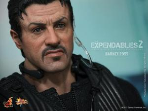 Hot Toys The Expendables 2 Barney Ross figure close upl