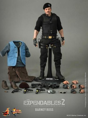Hot Toys The Expendables 2 Barney Ross figure full accessories