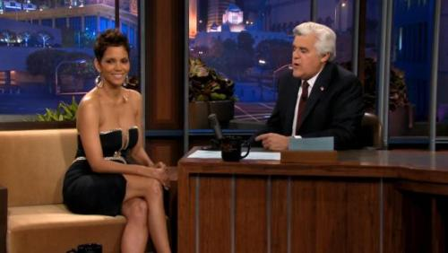 Jay Leno is speechless at Halle Berry's dress