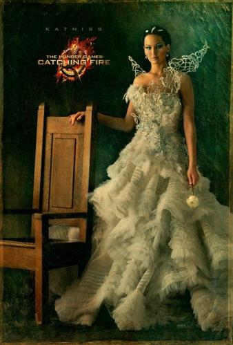 Jennifer Lawrence as Katniss in The Hunger Games Catching Fire victory potrait