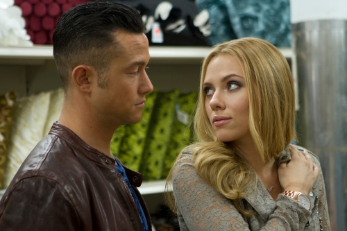 "Daniel McFadden/Relativity MediaWriter/Director Joseph Gordon-Levitt and Scarlett Johansson star in Relativity Media's ""Don Jon's Addiction."""