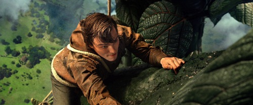 Warner Bros. PicturesJack (Nicholas Hoult) climbs the beanstalk.