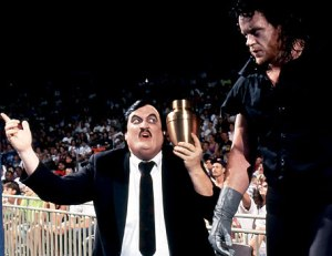Paul Bearer with The Undertaker