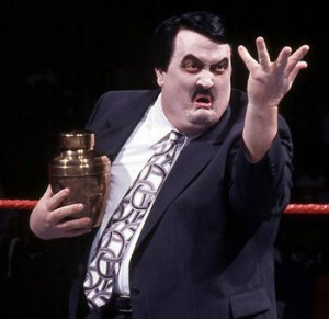 Paul Bearer with the urn