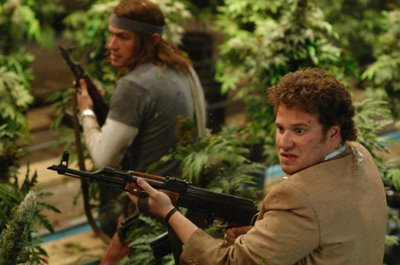 Pineapple Express James Franco and Seth Rogen with guns
