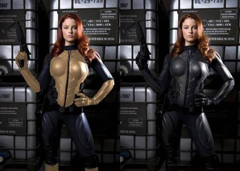A www.HissTank.com member shows how easily Scarlett's outfit could have been modified to resemble the comic/cartoon/toy attire.