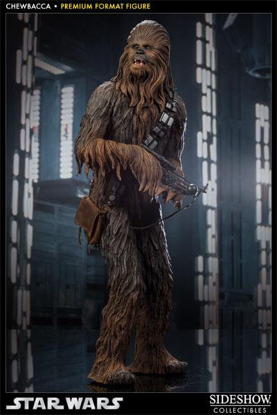 Sideshow Collectibles Chewbacca Star Wars premium format figure full shot