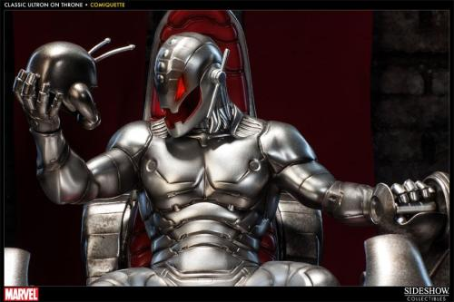 Sideshow Collectibles Ultron on the throne closeup