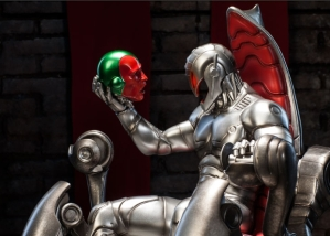 Sideshow Collectibles Ultron on the throne holding Vision head