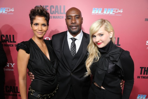 "Eric Charbonneau/ Columbia TriStar Marketing GroupHalle Berry, Morris Chestnut and Abigail Breslin at the world premiere of TriStar Pictures' ""THE CALL"" at Arclight."