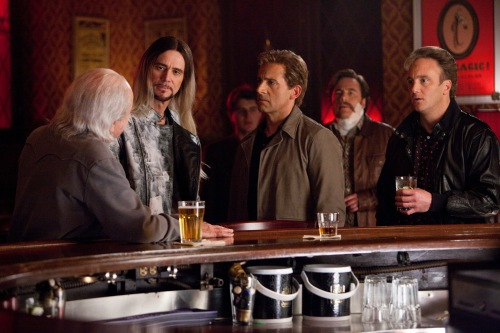 Ben Glass/Warner Bros. PicturesRance Holloway (Alan Arkin), Steve Gray (Jim Carrey), Burt Wonderstone (Steve Carell), Lucious Belvedere (Michael Bully Herbig) and Rick the Implausible (Jay Mohr) face off.