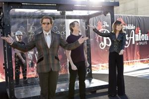 Ben Glass/Warner Bros. Pictures Burt Wonderstone (Steve Carell), Anton (Steve Buscemi) and Jane (Olivia Wilde) prepare for their big trick.