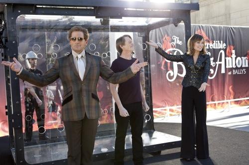 Ben Glass/Warner Bros. PicturesBurt Wonderstone (Steve Carell), Anton (Steve Buscemi) and Jane (Olivia Wilde) prepare for their big trick.