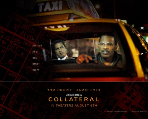 Collateral movie poster Tom Cruise and Jamie Foxx