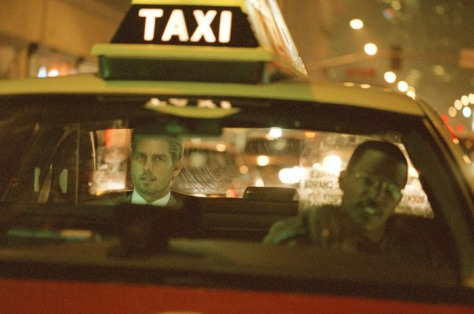 Collateral Tom Cruise and Jamie Foxx in the cab