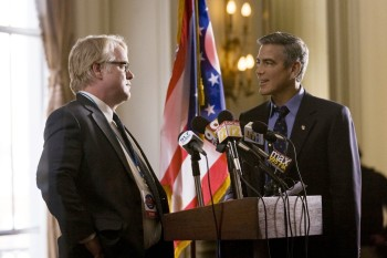 The Ides of March Phillip Seymour Hoffman and George Clooney