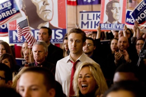 The Ides of March Ryan Gosling in crowd