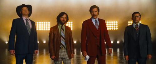 "Rob Coddry, Paul Rudd, Will Ferrell and Steve Carell return in ""Anchorman 2."""