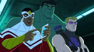 Avengers Assemble Falcon, Hulk and Hawkeye