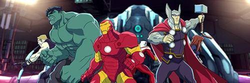 Hawkeye, Hulk, Iron Man and Thor in Avengers Assemble