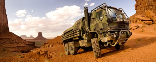 The always rugged and reliable Hound, one of the Family of Medium Tactical Vehicles from Oshkosh Defense.