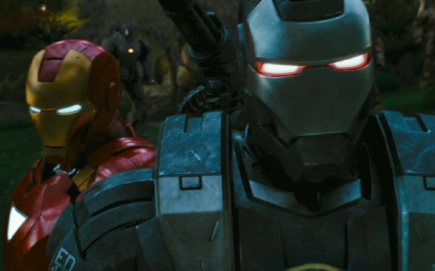 Iron Man 2 Iron man Robert Downey Jr and War Machine Don Cheadle final fight