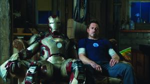 Iron Man 3 Iron Man Mark 42 and Tony Stark Robert Downey Jr