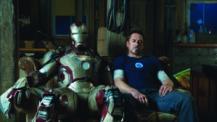 Iron Man 3 Iron Man Mark 42 and Tony Stark Robert Downey Jr
