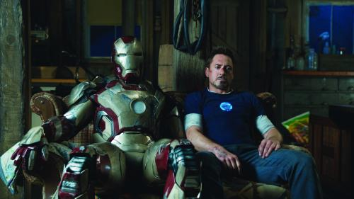 "Film Frame/Marvel Studios Tony Stark/Iron Man (Robert Downey Jr.) with his Mark 42 armor in ""Iron Man 3."""