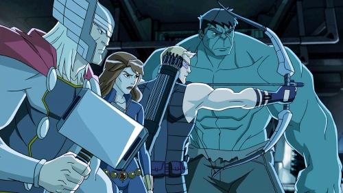 marvels-avengers-assemble Thor, Black Widow, Hawkeye and Hulk