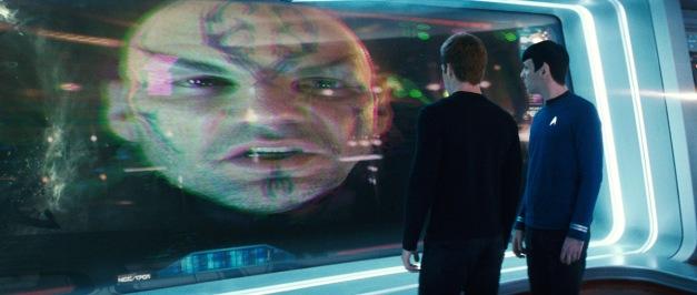 Star Trek 2009 Nero speaks to Kirk and Spock