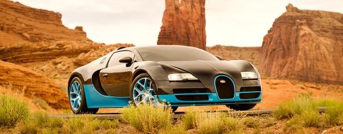A classy 1,200-horsepower Bugatti Grand Sport Vitesse worth more than $2.4 million.