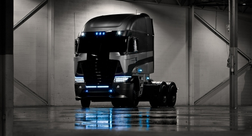 michaelbay.com The adventure continues to transform with a very different offering from Daimler Trucks North America . . . the imposing 2014 Argosy cab-over truck by Freightliner.