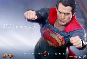 Hot Toys Man of Steel Superman flying close up