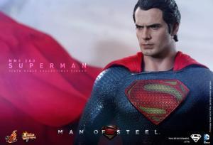 Hot Toys Man of Steel Superman staring