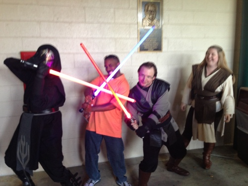 Star Wars Night - me and Jedi and Sith
