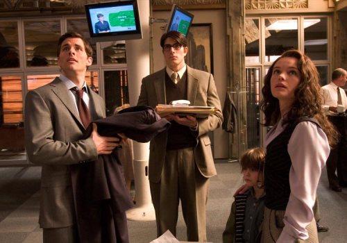 Superman Returns James Marsden, Brandon Routh and Kate Bosworth