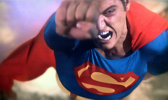 Superman the movie 1978 angry Superman