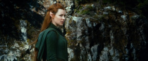 """Warner Bros. Pictures EVANGELINE LILLY as Tauriel in New Line Cinema's and MGM's fantasy adventure """"THE HOBBIT: THE DESOLATION OF SMAUG,"""" a Warner Bros. Pictures release."""