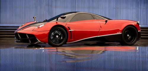 michaelbay.com Considered a masterpiece of design and engineering, this fierce, 2013 blood red Pagani Huayra, is named after an ancient Andean God of Wind.