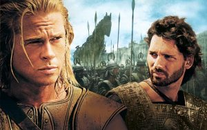 Troy Brad Pitt as Achilles and Eric Bana as Hector
