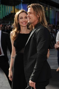 """Stuart C. Wilson / Getty Images  Angelina Jolie and Brad Pitt at the Global Premiere of """"WORLD WAR Z."""""""