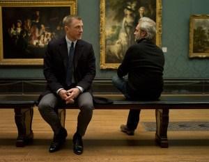 Daniel-Craig-and-Sam-Mendes on Skyfall set