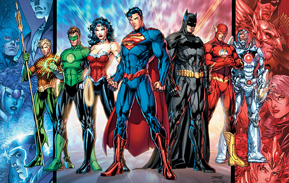 DCnU Justice League Jim Lee - Superman, Batman, Wonder Woman, Flash, Cyborg, Green Lantern, Aquaman