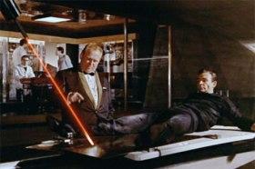 Goldfinger - Goldfinger with a laser on Bond
