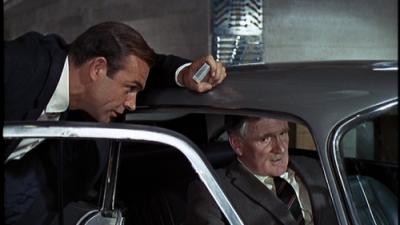 Goldfinger-James-Bond Sean Connery and Q Desmond-Llewelyn