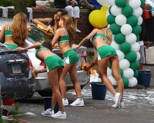 Grown Ups 2 cheerleader car wash