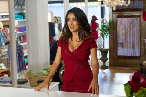 Tracy Bennett/Columbia Pictures Roxanne Feder (Salma Hayek) in her boutique