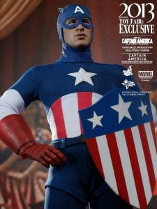 Hot Toys Captain America Star Spangled Man iconic pose