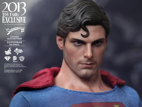 Hot Toys Superman III Evil Superman head left